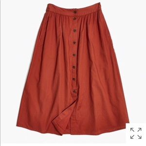 Madewell button down skirt